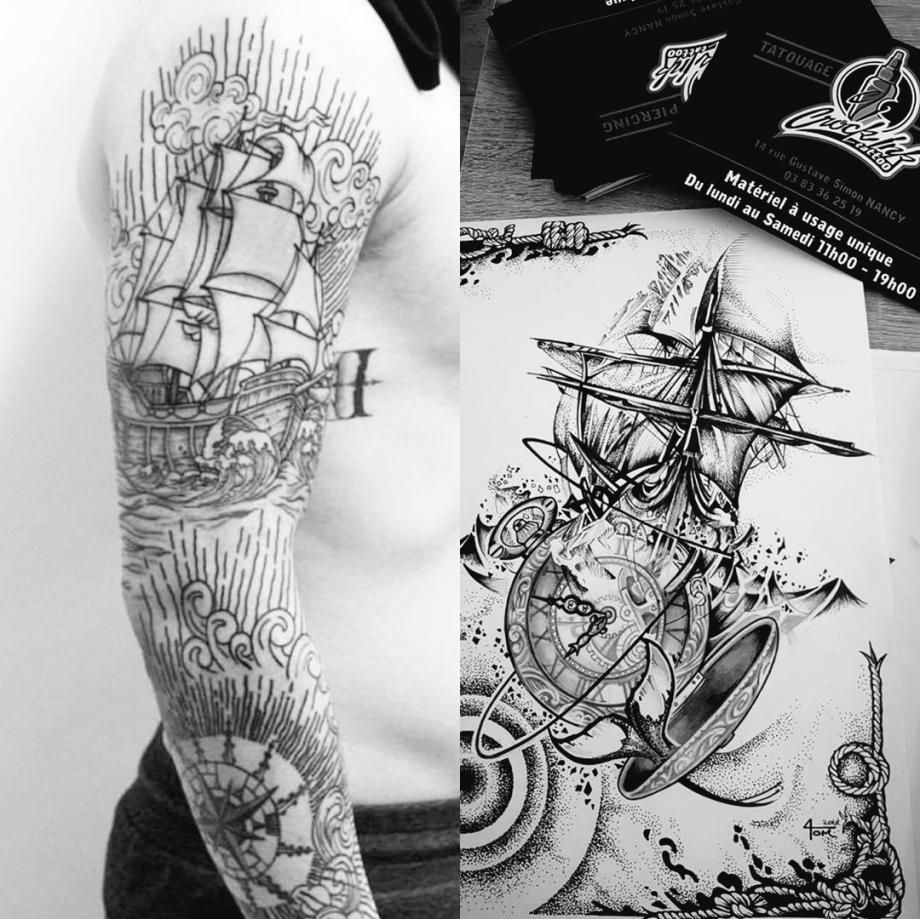 La Symbolique Du Bateau Dans Le Tattoo Crock Ink Tatouage Bonneuil