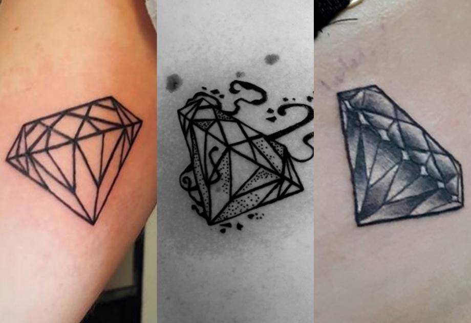 Le Diamant Dans Le Tattoo Symbolique Crock Ink Tatouage Bonneuil